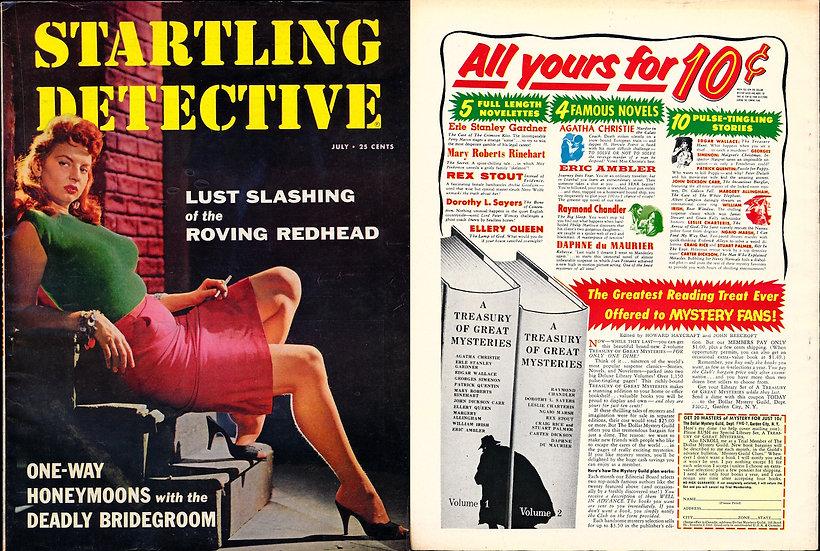 Startling Detective (Vintage crime magazine, Jackie Miller cover, 1957)