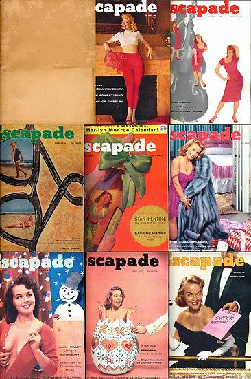 Escapade (8 vintage adult magazines bound together, 1956-58)