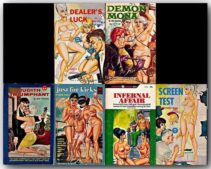 Satan Press, Wee Hours, Corsair, Dr. Lamb and more (8 Vintage Paperbacks, 1960s)