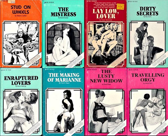 GSX [Fetish and Fantasy] series (8 vintage paperbacks)