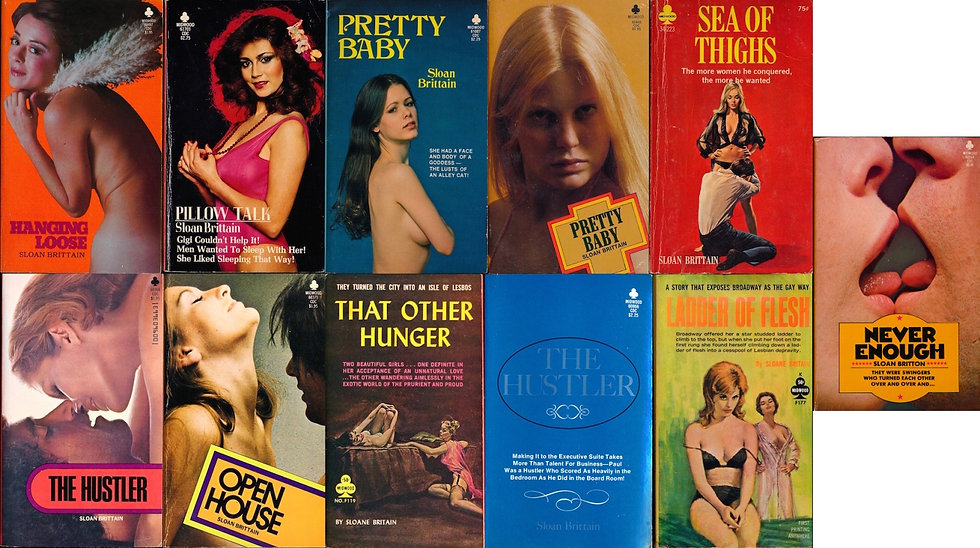 Sloane Britain on Midwood (11 vintage adult paperbacks)