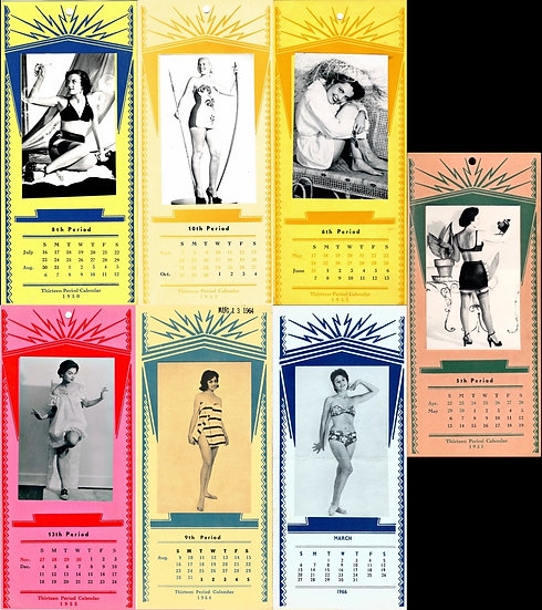 Superior Switchboard & Devices Co. (7 vintage pin-up accounting calendars)