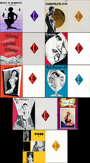 Various Capital Publications, Ltd. (9 vintage adult magazines, 1956-57)