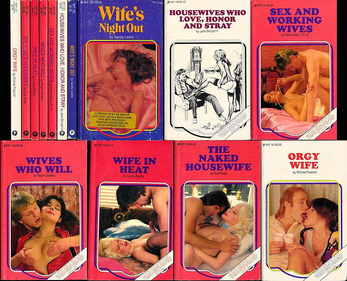 WIF series (7 vintage adult paperbacks, 1986-91)