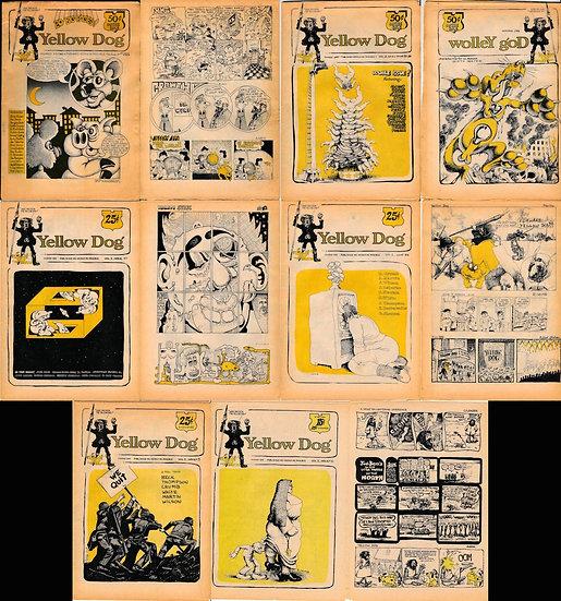 Yellow Dog (6 vintage underground comic newspapers, 1968-69)