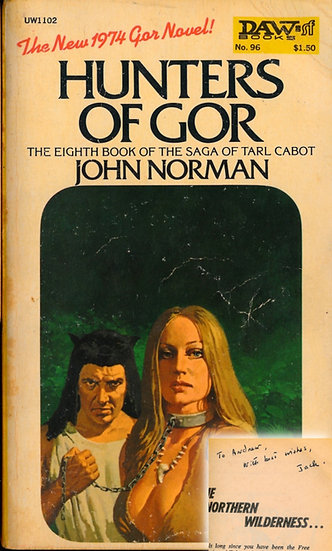 Hunters of Gor (First Edition, Offutt's copy, signed by Norman, 1974)