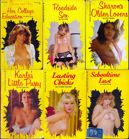Young and Hot (6 vintage adult paperbacks, 1980s)