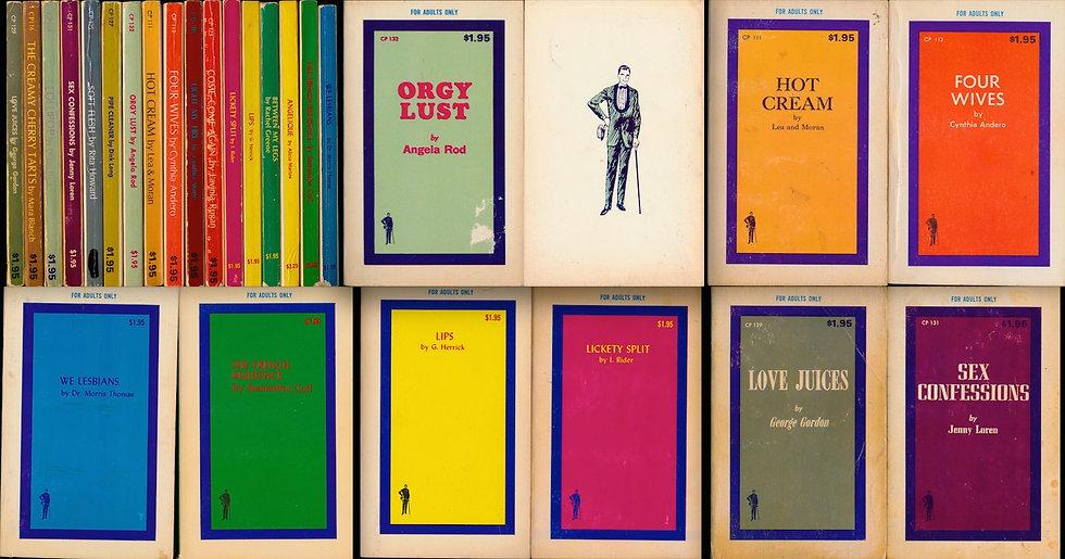 Cad Publishing (18 vintage adult paperbacks, 1969)