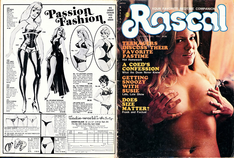 Rascal [Your Favorite Bedtime Companion] (Vintage adult magazine, 1975)