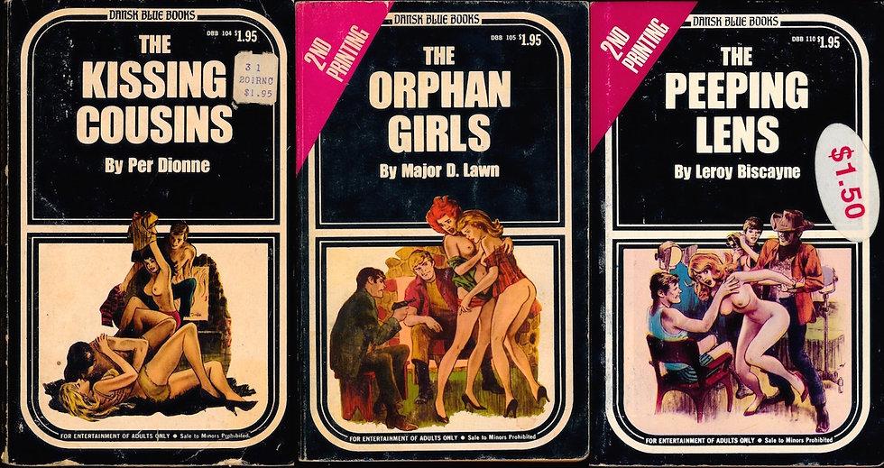Dansk Blue Books (5 vintage adult paperbacks, 1971, 1978)