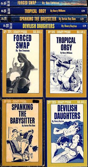 Dover Press (4 vintage adult paperbacks, 1978)