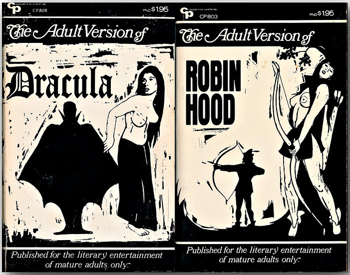 The Adult Version of Robin Hood, and, of Dracula (2 Vintage Paperbacks)