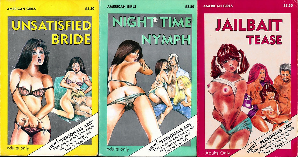 Star Distributors: American Girls (3 vintage adult paperbacks, 1983)