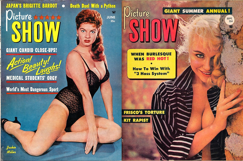 Picture Show (2 vintage pin-up magazines, 1959)