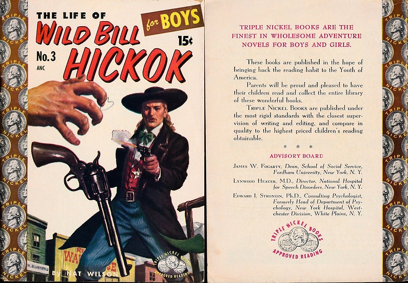 The Life of Wild Bill Hickock for Boys (vintage digest paperback)