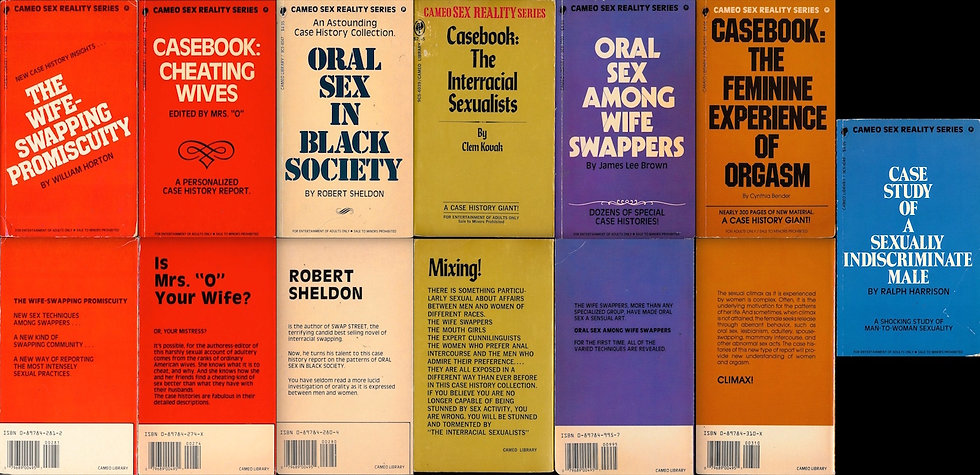 Cameo Library / Sex Reality series (7 vintage adult paperbacks)