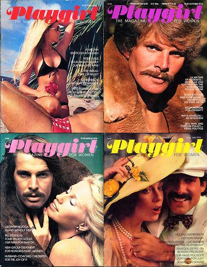 Playgirl (4 vintage adult magazines, 1974)