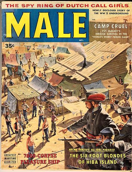 Male (Vintage adventure magazine, Sep 1958)