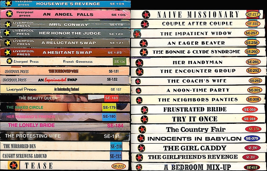 Liverpool Press, SE series (35 vintage adult paperbacks, 1996-2003)
