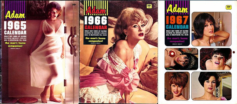 Adam Calendar (3 Vintage nude pinup calendars, 1966-67)
