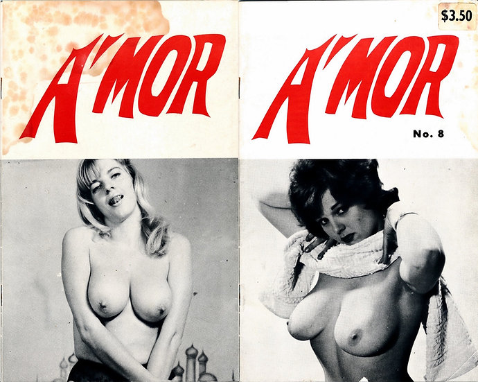 A'Mor (vintage adult digest magazine, Lorraine Burnett cover, 1960s)