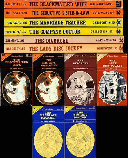 Liverpool Book: Tiburon Book (6 vintage adult paperbacks)