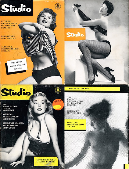 Studio (2 vintage pin-up magazines, 1957)