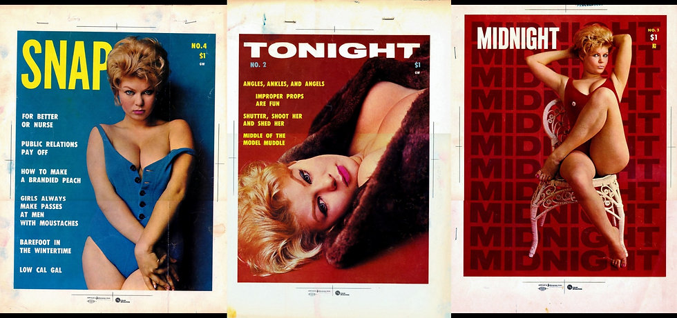 Midnight, Snap, Tonight (3 adult magazine color separations, Terry Higgins)