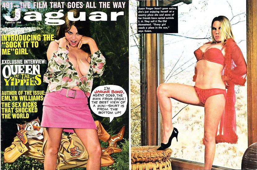 Jaguar (Vintage adult magazine, Sep 1968, Diane Curtis cover)