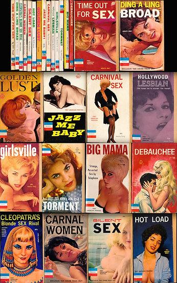 France Books (14 vintage adult paperbacks, 1962-63)