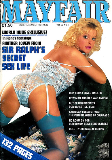 Mayfair (Vintage British adult magazine, 1987)