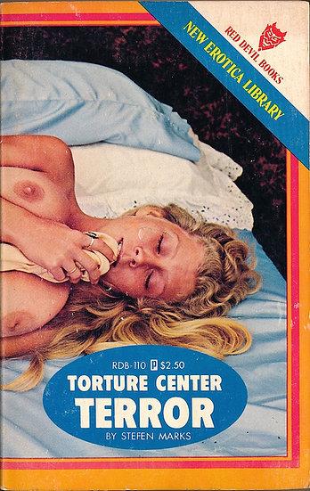 Torture Center Terror (Vintage adult paperback, Dawn Knudsen cover, 1977)