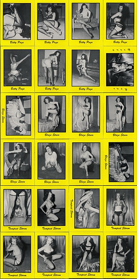50s Pin-Up [Pinup] Girls: Betty Page and Friends! (Vintage trading cards, 1992)