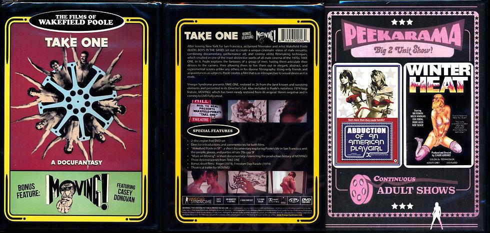Wakefield Poole / Peekarama 2 VINEGAR SYNDROME DVDs Winter Heat TAKE ONE Moving!