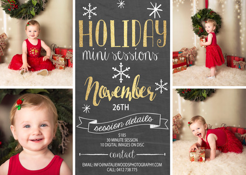 *It's Beginning to Look a lot like Christmas....that means it's time for Christmas Mini Sess