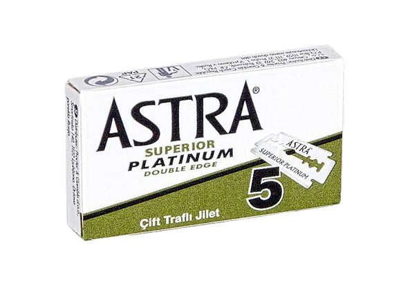 ASTRA Superior Platinum Double Edge Blade Refill (5 Pack)
