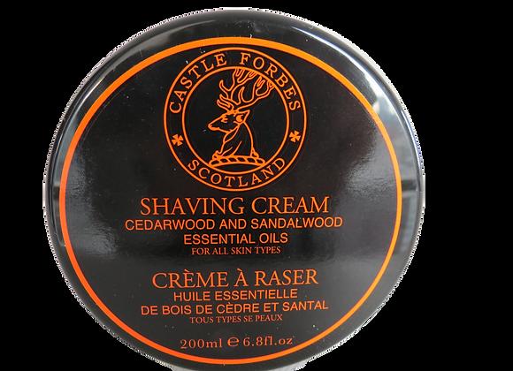 Castle Forbes Essential Oils Shaving Cream Cedar and Sandalwood
