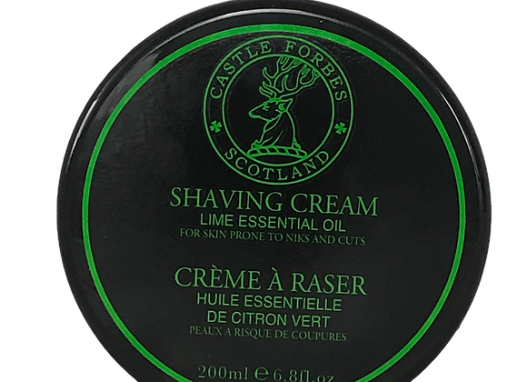 Castle Forbes Essential Oils Shaving Cream Lime