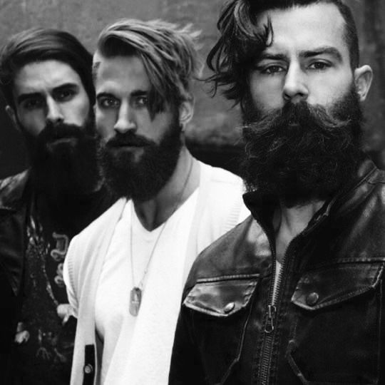 Men with beards wanting to know our mission statement and why we are selling these products