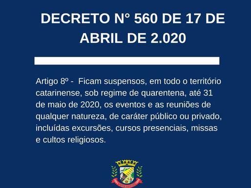 FESTAS DE DIA DO TRABALHO ESTÃO SUSPENSAS