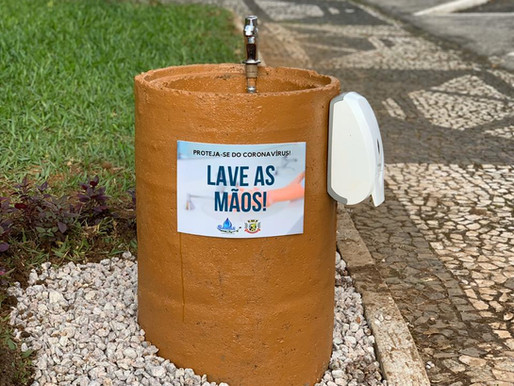 Samae de Treviso instala lavatórios na praça