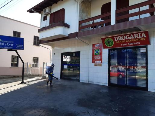 Ruas de Treviso são pulverizadas para maior higienização