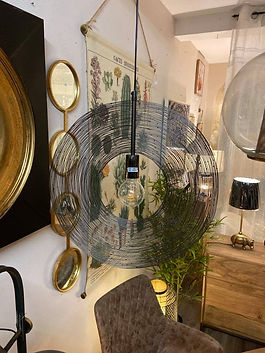 Suspension lustre deco meuble logis des deux lions forcalquier alpes de haute provence 04 PACA