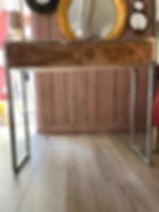 Console acacia déco meuble 04 Forcalquier