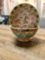 Bol fleurs poterie Forcalquier