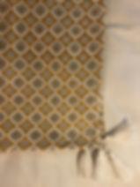 Plaid jaune Forcalquier