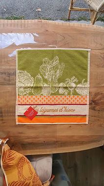 Essuie mains coucke légumes d'hiver deco meuble forcalquier alpes de haute provence 04