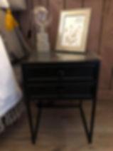 Chevet noir en fer Hanjel Forcalquier