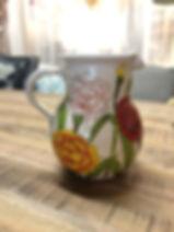 Pichet fleur Hauteur 16 cm 39 €