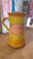 Pichet cochon poterie Forclquier
